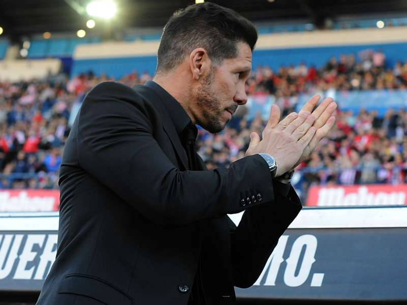 Simeone was pleased with the  improvement in the second half